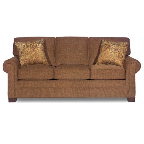 Cozy Life 990150 Transitional Three-Seater Sofa with Rolled Arms