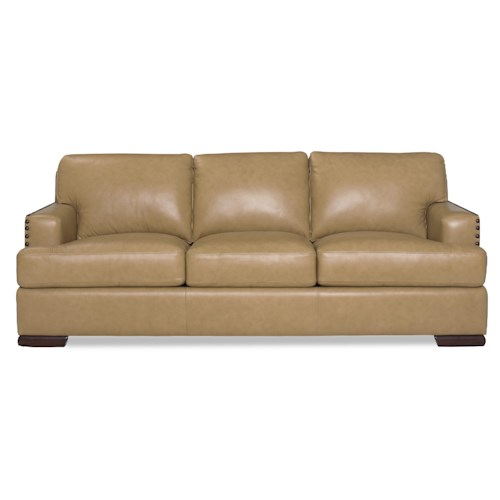 Cozy Life Allure Contemporary Sofa with Nailhead-Studded Track Arms