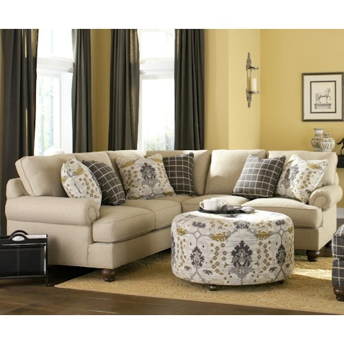 Craftmaster C9 Custom Collection <b>Customizable</b> Two Piece Sectional Sofa