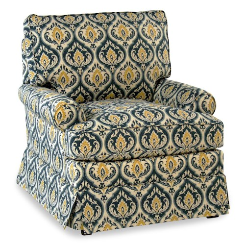 Cozy Life Accent Chairs Mazie Upholstered Chair w/ Skirt