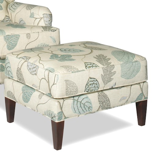Cozy Life Accent Chairs Transitional Ottoman with Tall Tapered Legs