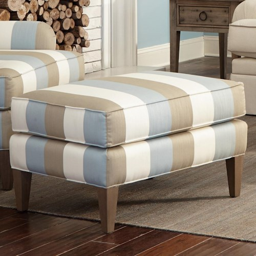 Craftmaster Accent Chairs Transitional Ottoman with Tall Tapered Legs