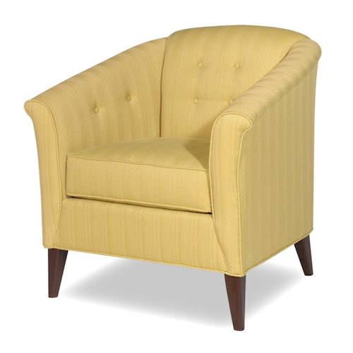 Craftmaster Accent Chairs Contemporary Button-Tufted Barrel Back Chair