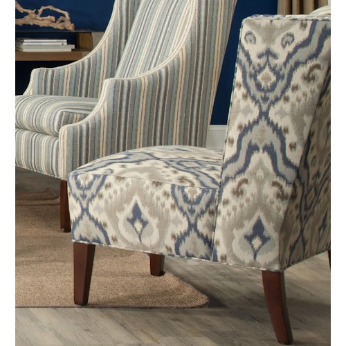 Cozy Life Accent Chairs Contemporary Armless Wing Chair with Nailhead Trim