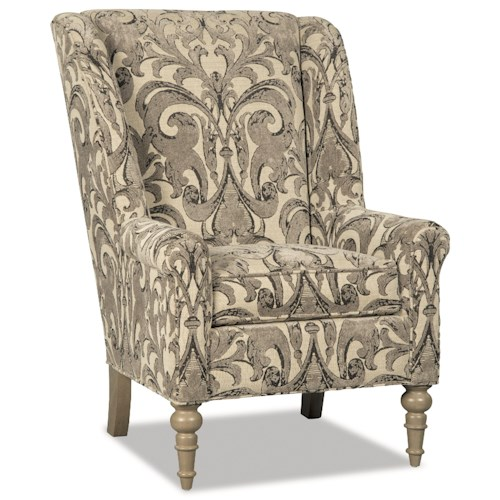 Craftmaster Accent Chairs Traditional Chair with Modified Wing Back