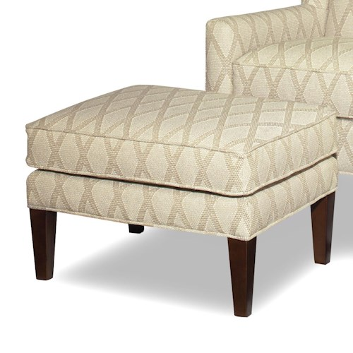 Craftmaster Accent Chairs Transitional Ottoman with Tall, Tapered Legs