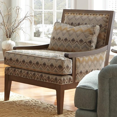 Cozy Life Accent Chairs Contemporary Exposed Wood Accent Chair