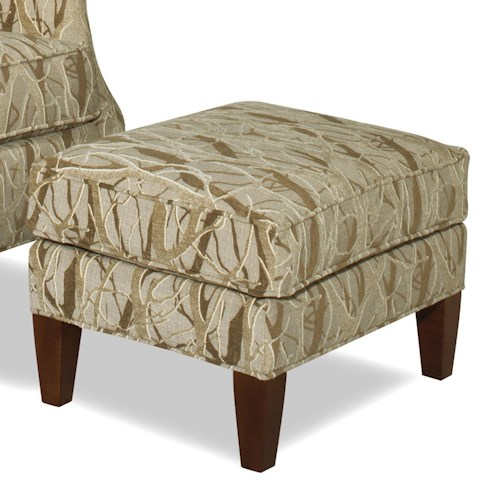 Craftmaster Accent Chairs Contemporary Ottoman with Tall Tapered Legs