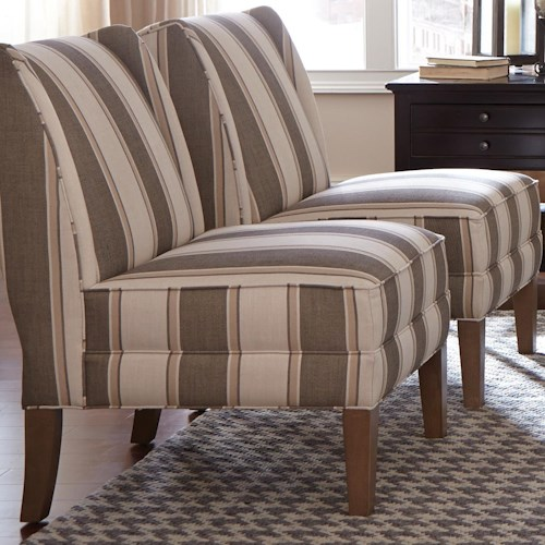 Cozy Life Accent Chairs Contemporary Armless Chair with Modified Wing Back