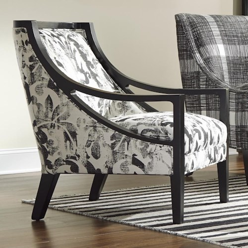 Cozy Life Accent Chairs Contemporary Exposed Wood Chair