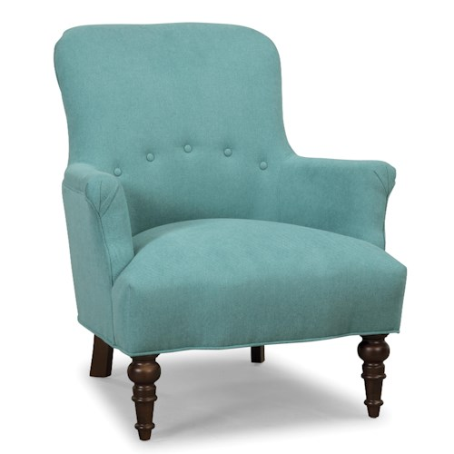 Cozy Life Accent Chairs Traditional Accent Chair with Turned Legs and Buttons