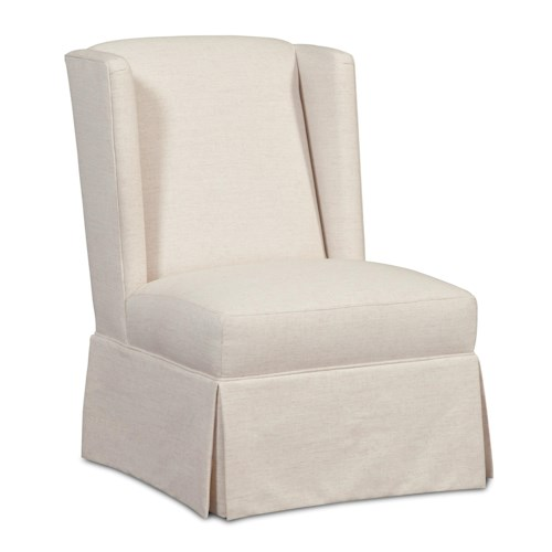 Craftmaster Accent Chairs Armless Wing Chair with Skirted Base