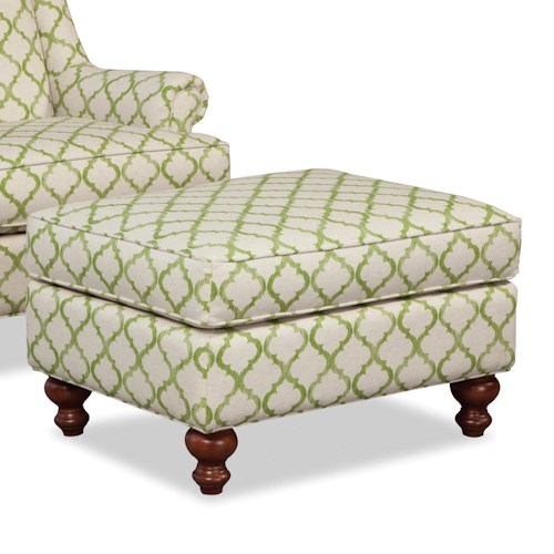 Craftmaster Accent Chairs Traditional Ottoman with Turned Legs