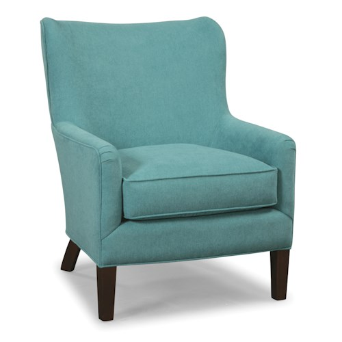Craftmaster Accent Chairs Accent Chair with Pleated Arms and Rounded Wing Back