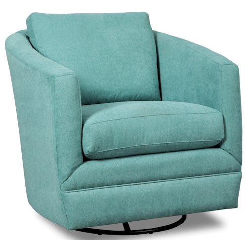 Craftmaster Accent Chairs Swivel Barrel Chair Darvin