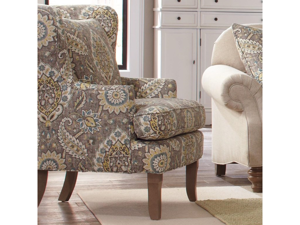 Traditional Accent Chairs Living Room Craftmaster Accent Chairs Traditional Upholstered Wing Chair With