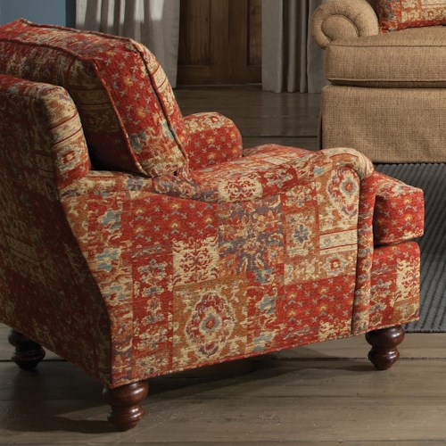 Cozy Life Accent Chairs Upholstered Arm Chair with Wood Feet