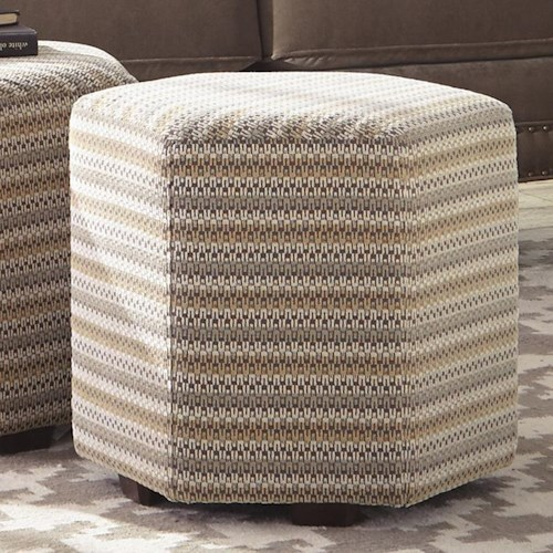 Craftmaster Accent Ottomans Accent Hexagon Ottoman