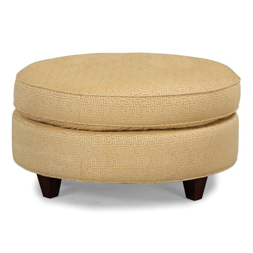 Craftmaster Accent Ottomans Round Cocktail Ottoman
