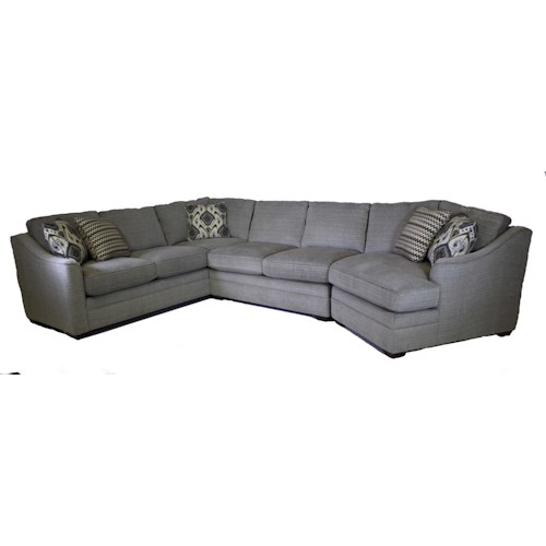 Craftmaster F9 Custom Collection Customizable 3-Piece Sectional