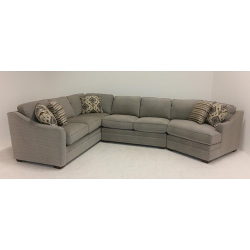 Craftmaster F9 Custom Collection <b>Customizable</b> 3-Piece Sectional with LAF Cuddler