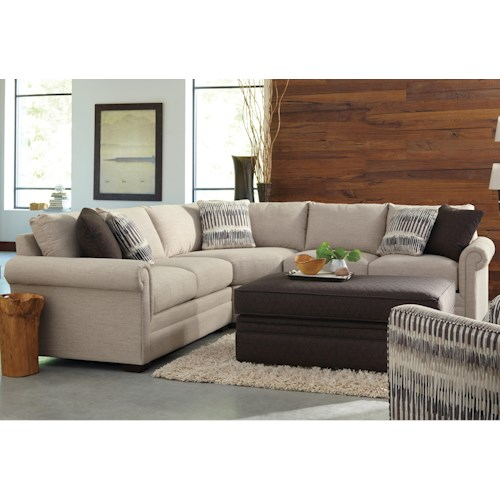 Cozy Life F9 Custom Collection <b>Customizable</b> 3-Piece Sectional with Pie Wedge