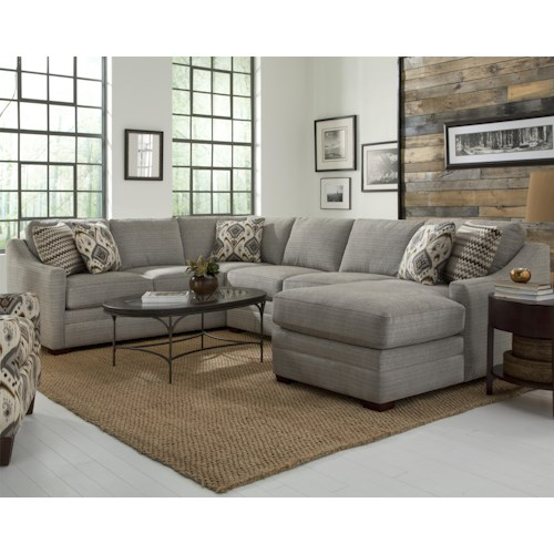 Craftmaster F9 Design Options Customizable Four Piece Sectional Sofa