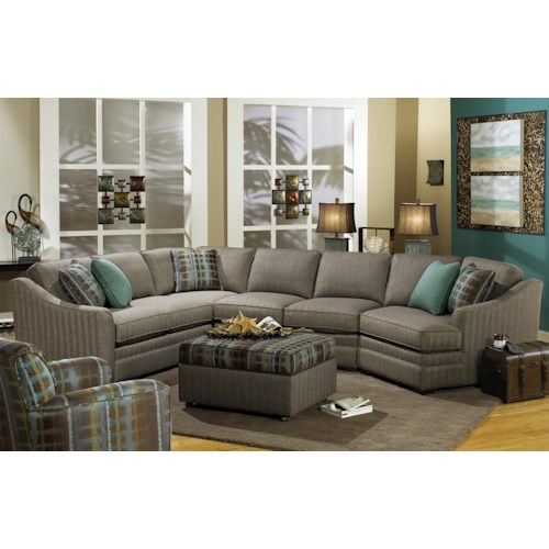 Cozy Life F9 Custom Collection <b>Customizable</b> 3-Piece Sectional with RAF Cuddler