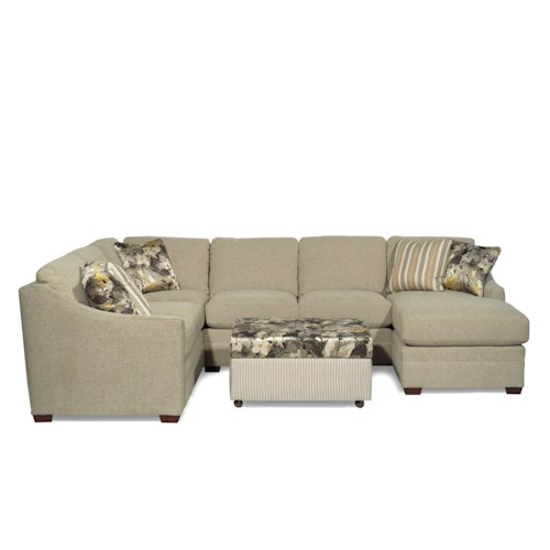 Craftmaster F9 Design Options <b>Customizable</b> 3-Piece Sectional with LAF Sofa w/ Return