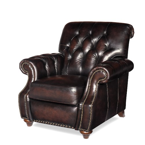 Craftmaster Brighton Traditional Recliner Chair with Button Tufting and Nail Head Trim