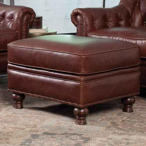 Craftmaster L152350 Traditional Ottoman with Nailhead Trim