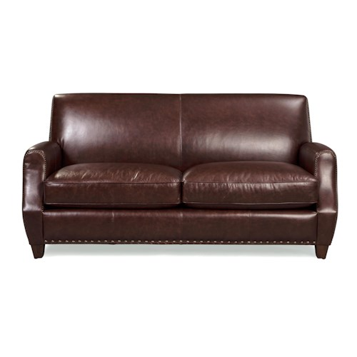 Craftmaster L159850      Small-Scale Contemporary Leather Sofa with Nailhead Trim