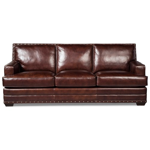 Craftmaster L165200 Transitional Sofa with Nailhead Trimming