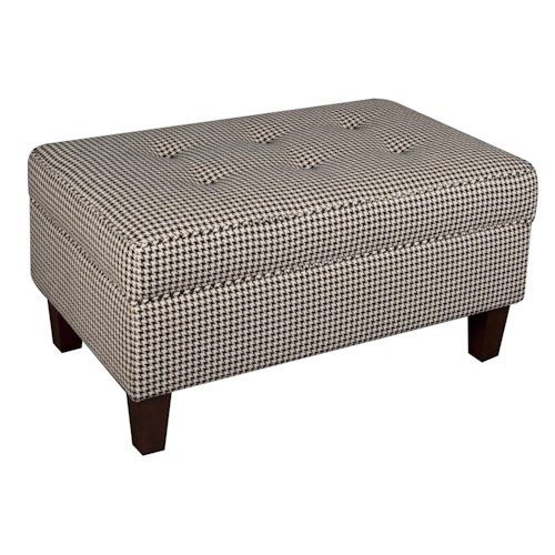 Morris Home Furnishings Sarah Storage Ottoman