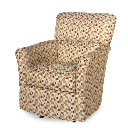 Craftmaster Swivel Chairs Contemporary Upholstered Swivel Chair with Flair Arms