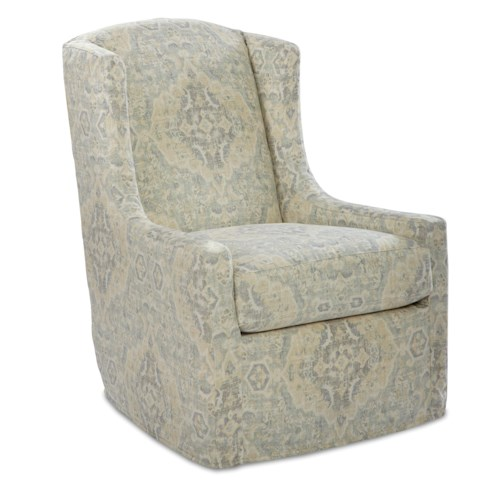 Craftmaster Swivel Chairs Transitional Swivel Chair
