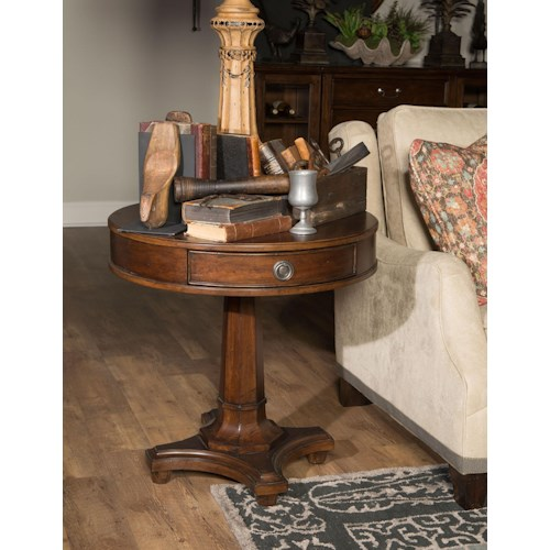 Morris Home Furnishings Upstate - Round Lamp Table