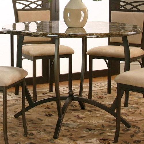 Cramco, Inc Atlas  Round Dinner Table w/ Faux Marble Top