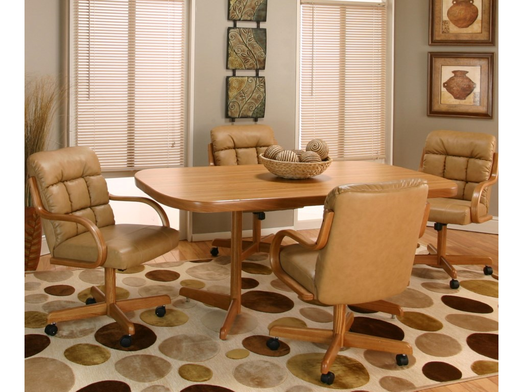 Rustic Oak Table Shown with Chairs