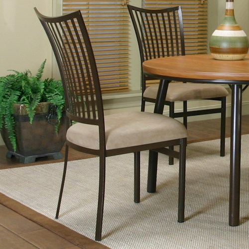 Cramco, Inc Cramco Dinettes - Bellevue Dining Side Chair with Upholstered Seat
