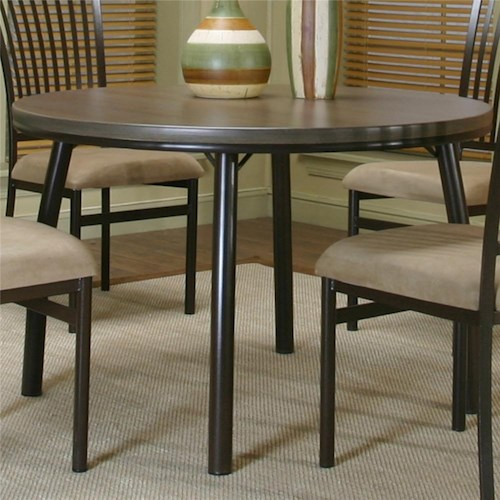 Cramco, Inc Cramco Dinettes - Bellevue Round Dining Table with Old Oak Finish