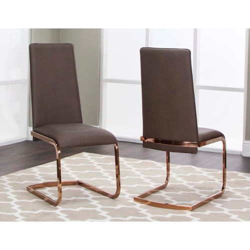 Cramco, Inc Bentley Dining Side Chair with Upholstered Seats