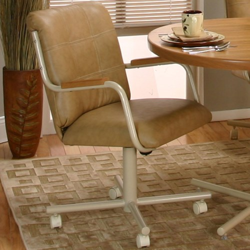 Cramco, Inc Cramco Motion - Carter  Swivel Arm Chair w/ Upholstery