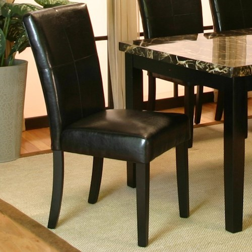 Cramco, Inc Chatham Dining Side Chair w/ Tapered Wood Legs