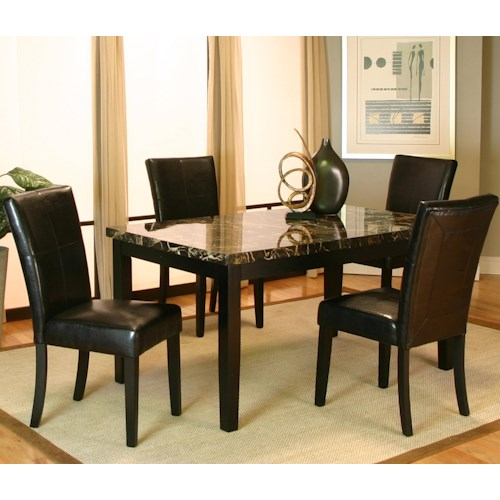 Cramco, Inc Chatham 5 Piece Dining Leg Table and Side Chair Set