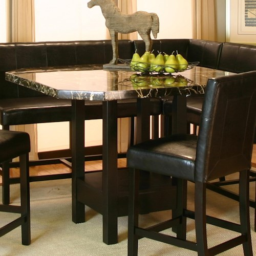 Cramco, Inc Chatham Square Clipped Corner Pub Table w/ Faux Marble Top