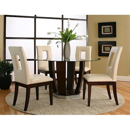 Cramco, Inc Contemporary Design - Emerson 5 Piece Table Set
