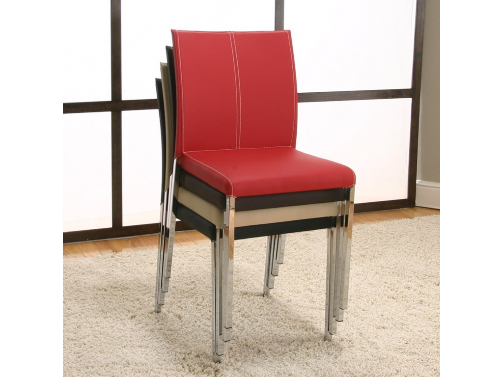 Shown Stacked with Other Side Chairs