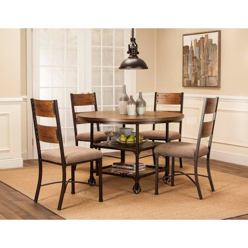 Cramco, Inc Craft 5 Piece Metal and Wood Dining Set