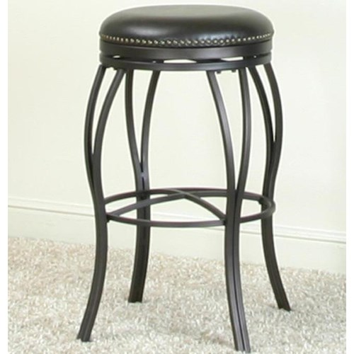 Cramco, Inc Cramco - Dining Swivel Barstool w/ Nailhead Trimming